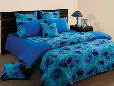 Swayam Floral Single Quilts & Comforters Blue