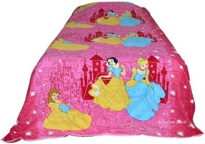 Indian Rack Cartoon Single Dohar Pink