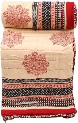Chhipa Prints Floral Double Quilts & Comforters Red