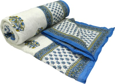 Shop Rajasthan Floral, Printed Double Quilts & Comforters Blue & White