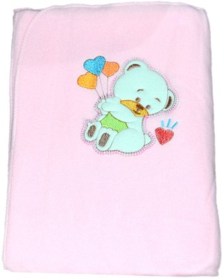 Mama & Bebe Embroidered Double Blanket Pink
