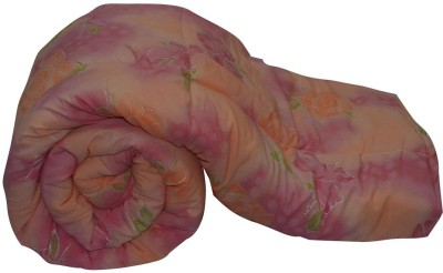 Art-Tickles Floral Single Quilts & Comforters Peach, Pink, Green