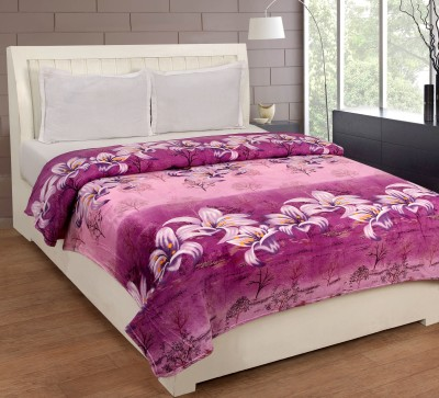 Bed & Bath Floral Double Blanket Purple, Pink, White