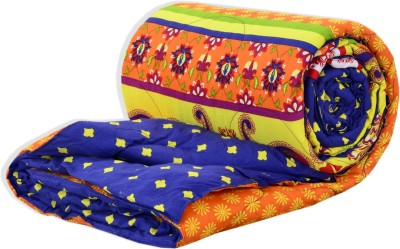 Salona Bichona Abstract Double Quilts & Comforters Orange