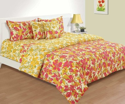 House This Floral Double Blanket Pink, Yellow