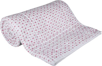 Ivak Design Floral Double Quilts & Comforters Pink, White