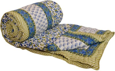 Ooltah Chashma Floral Double Quilts & Comforters Blue