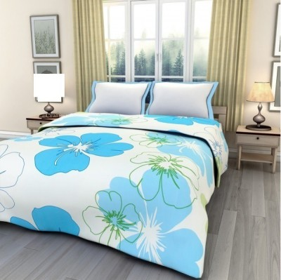 Tempting AC Dohar Double Bed Floral Double Dohar Blue