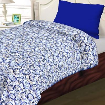 Aapno Rajasthan Abstract Single Dohar White, Blue