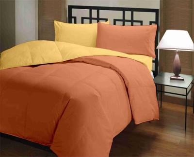 Featherlite Plain Single Duvet Yellow, Orange