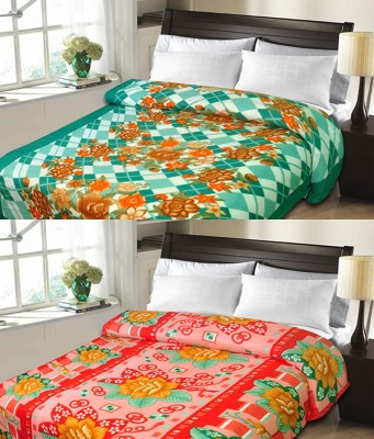 Candy House Checkered Double Blanket Yellow