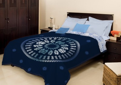 Bombay Dyeing Geometric Single Blanket Blue