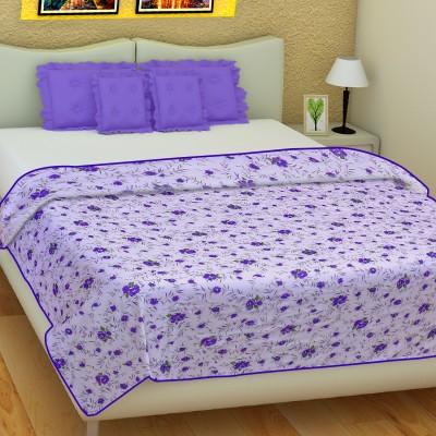SLEEP N DREAM Floral Single Dohar Purple