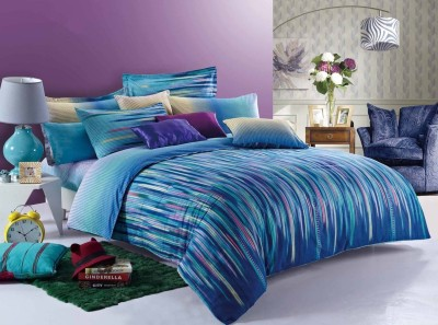 Zyne Abstract Double Quilts & Comforters Multicolor