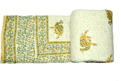 Raj Amer Craft Animal Double Quilts & Comforters Yellow