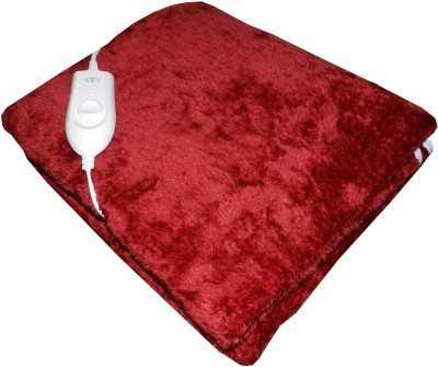 Expressions Plain Single Electric Blanket Maroon