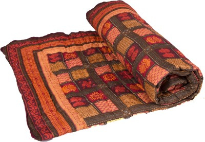 Smile2u Retailers Floral Single Quilts & Comforters Brown