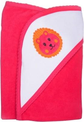 Manorath Plain Crib Blanket Red