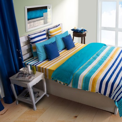 House This Striped Single Quilts & Comforters Blue