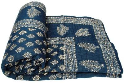 KRG ENTERPRISES Floral Double Quilts & Comforters Blue