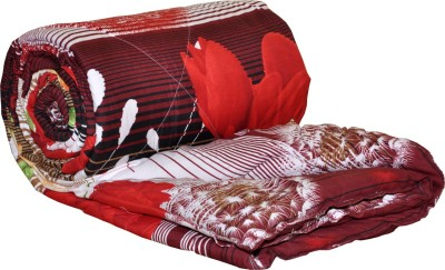 AJ Home Floral Double Quilts & Comforters Red