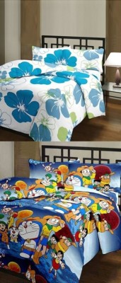 The Home Story Floral, Cartoon Single Dohar Multicolor
