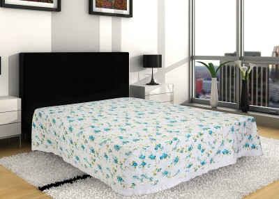 Sangreh Floral Double Quilts & Comforters White, Blue