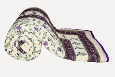 Buy Clues Floral Double Quilts & Comforters White