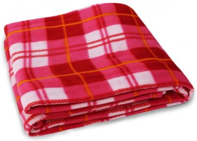 Story @ Home Checkered Double Blanket Red