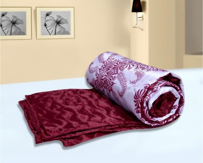 Urban Style Floral Double Quilts & Comforters Maroon