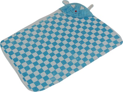 Casa Confort Checkered Single Crib Baby Blanket Multicolor