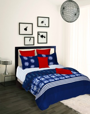Tangerine Checkered King Quilts & Comforters White, Blue