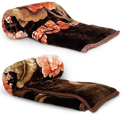 Kusum Creations Floral Single Blanket Multicolor