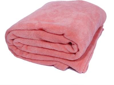 Surhome Plain Single Blanket Pink