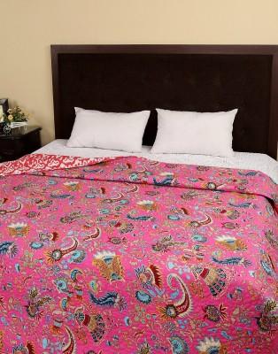 Rajrang Floral Double Quilts & Comforters Fuchsia
