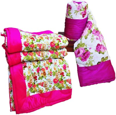 Artisan Creation Floral Single Quilts & Comforters Pink, Purple