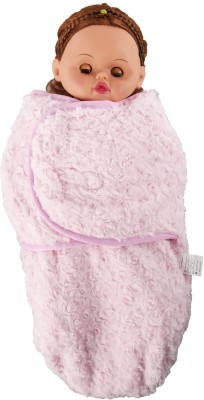 Baby Bucket Plain Single Blanket Pink