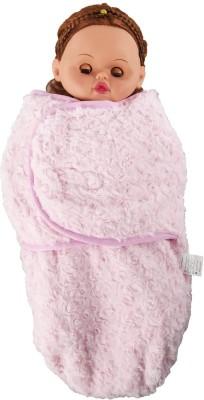 Baby Bucket Plain Single Blanket Pink