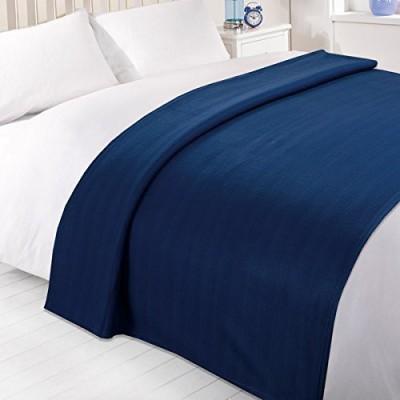 Shiv Fabs Plain Double Blanket Blue