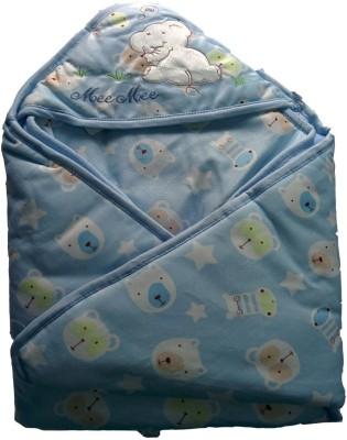 MeeMee Cartoon Single Hooded Baby Blanket Blue