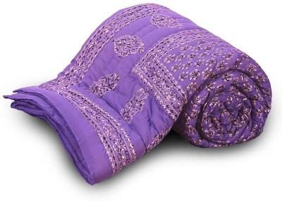 Me Home Floral Single Quilts & Comforters Blue