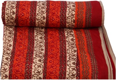 Chhipa Prints Floral Queen Quilts & Comforters Red