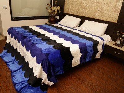 Tima Abstract Double Blanket Blue