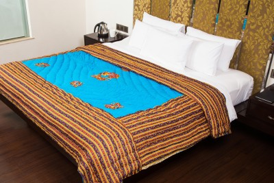 JaipurFabric Cartoon Double Quilts & Comforters Blue