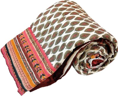 Shreemangalammart Floral Single Quilts & Comforters White And Red