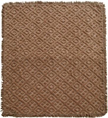 Saral Home Geometric Double Blanket Dark Beige