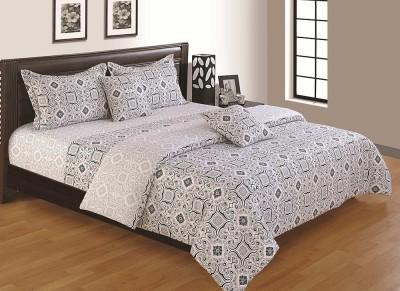House This Cotton Geometric Single Bedsheet