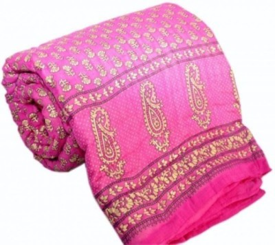 Bigonlineshop Floral Double Quilts & Comforters Pink