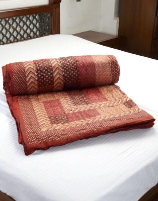Jodhaa Abstract Single Quilts & Comforters Brown