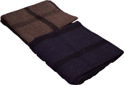 Magical Checkered Single Blanket Grey, Blue